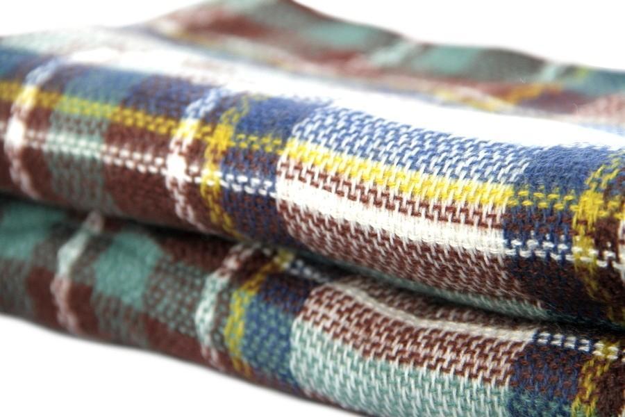 Echarpe plaid à carreaux écossais
